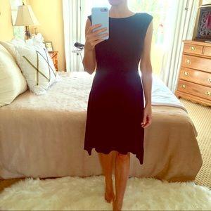 ANN TAYLOR 💘WORN ONCE Black Midi XS Dress LBD